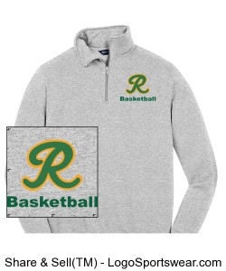 1/4 Zip Sweatshirt PERSONALIZED Design Zoom